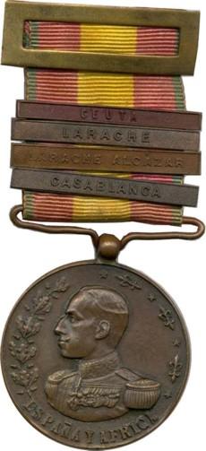 DECORATIONS DU PROTECTORAT ESPAGNOL Africa1912